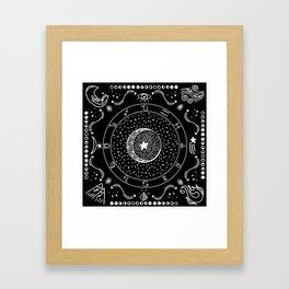 Zodiac Bandana Framed Art Print