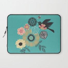 Birds & Bees - Turquoise Laptop Sleeve