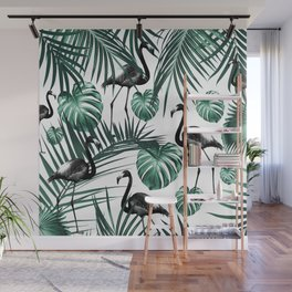 Tropical Flamingo Pattern #6 #tropical #decor #art #society6 Wall Mural