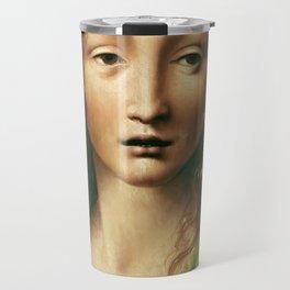 """Leonardo da Vinci """"Head of the Saviour"""" Travel Mug"""
