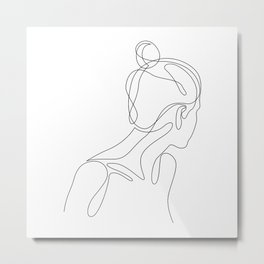 abol - one line art Metal Print
