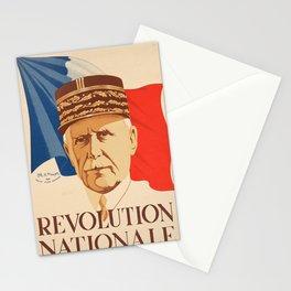 revolution nationale l vintage Poster Stationery Cards