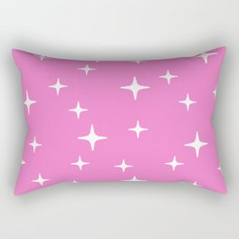 Mid Century Modern Star Pattern 443 Pink Rectangular Pillow