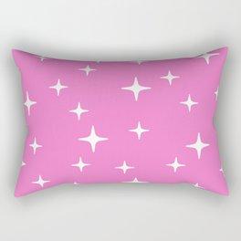 Mid Century Modern Star Pattern 443 Pink Rectangular Pillow