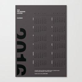 2016 Calendar | Silver Canvas Print