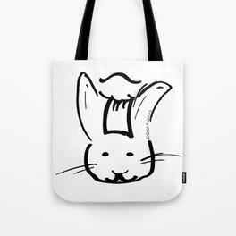 Rabbit Cooks Portrait Tote Bag