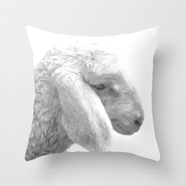 Black and White Sheep Throw Pillow