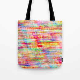 Light Rainbow Tie Dye Stripes Tote Bag
