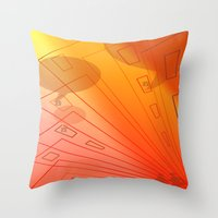 gossip girl Throw Pillows featuring gossip by sladja