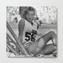 Swedish Olympian Gunhild Larking at the Melbourne Olympics Metal Print