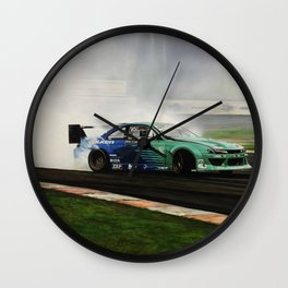 James Deane Drift Car Wall Clock