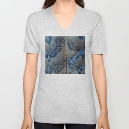 Feather | Feathers | Spiritual | Blue Feather Unisex V-Neck