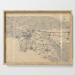 Vintage 1915 Los Angeles Area Map Serving Tray