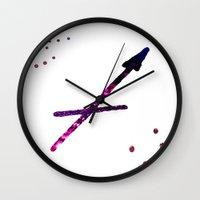 sagittarius Wall Clocks featuring sagittarius by haroulita