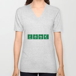 Father chemistry elements Unisex V-Neck