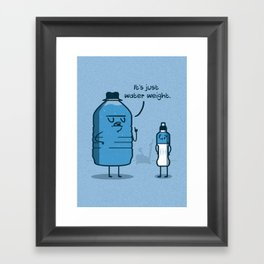 Water Weight Framed Art Print