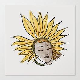 Sunflower Side-eye Canvas Print