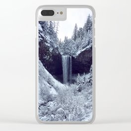 Snowy Tamanawas Falls Clear iPhone Case