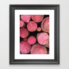 pink woods Framed Art Print