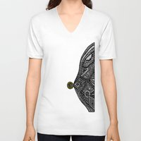 vampire diaries V-neck T-shirts featuring PacMan Diaries by Lauren Moore
