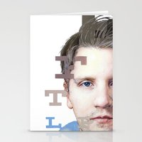 mike wrobel Stationery Cards featuring Mike by Justin Yanke