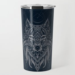 Wolf of North Travel Mug
