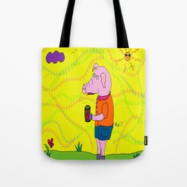Little Piggy Loves his Coffee Tote Bag