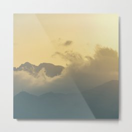 Clouds in the mountains III Metal Print