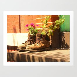 Boot Planters in Baltimore Art Print