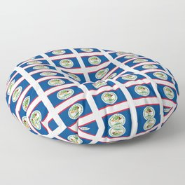 flag of belize 2 -Belice, Belizean,Belize City,beliceno,Belmopan Floor Pillow
