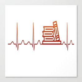 LIBRARIAN HEARTBEAT Canvas Print