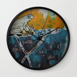 Frog Music Wall Clock
