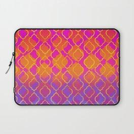 Bold Vivid Vibrant Colorful Pink Orange Gold Laptop Sleeve