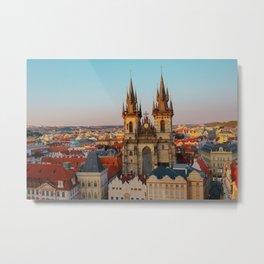 Orange Roofs of Prague Metal Print