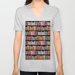 Christmas Antique Book Library for Bibliophile.bookworm, book lover, library, teachers , students, Unisex V-Neck