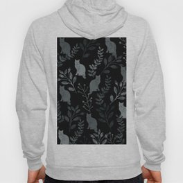 Watercolor Floral and Cat III Hoody