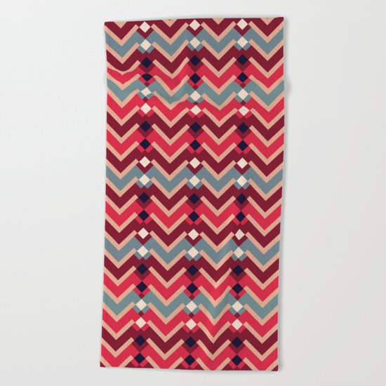 Fractal Mountains - candy Beach Towel