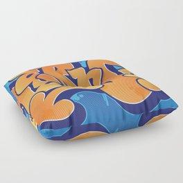 Lern 1 Bubblegum Graffiti NYC Floor Pillow