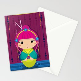 Punk Kokeshi_Pink Stationery Cards