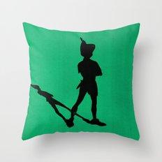 HE CAN FLY! (Peter Pan) Throw Pillow