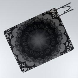 Dark Mandala #1 Picnic Blanket
