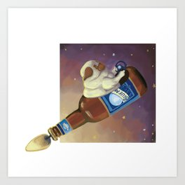 Bluemoon Pug Art Print