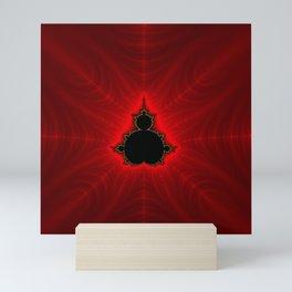 Red Mandelbrot Fractal Mini Art Print