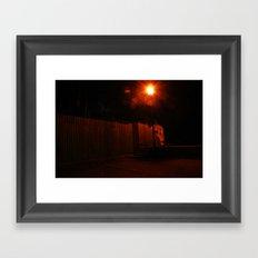 Streetlights and Fences Framed Art Print