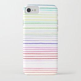 RAINBOW WATERCOLOR LINES iPhone Case