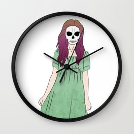 Skull Lady Wall Clock