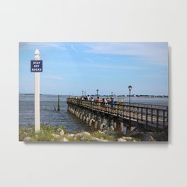 Fishing In Southport Metal Print