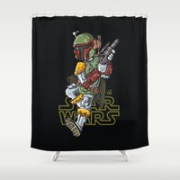 hunter Shower Curtains featuring hunter by neicosta