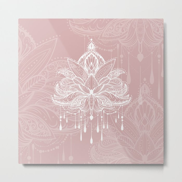Blush mandala Metal Print