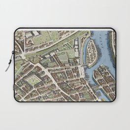 Turgot map of Paris colorized - highly accurate & detailed map of the city in 1736 - Board 6/20 Laptop Sleeve